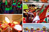 Carnaval scene collage